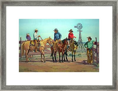 The Tale Spinner Framed Print by Randy Follis