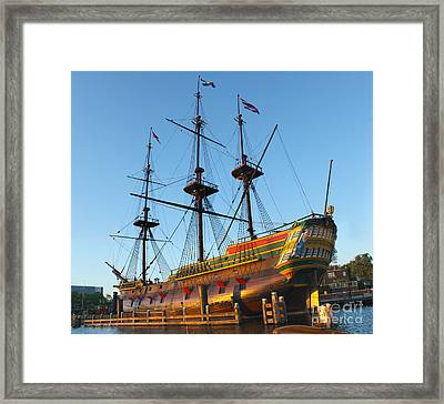The Tall Clipper Ship Stad Amsterdam - Sailing Ship  - 04 Framed Print by Gregory Dyer