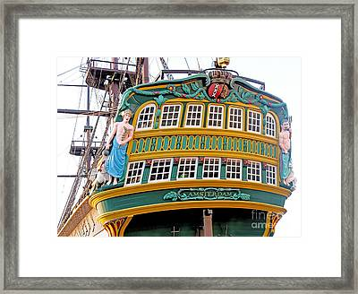 The Tall Clipper Ship Stad Amsterdam - Sailing Ship  - 09 Framed Print by Gregory Dyer