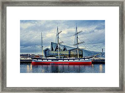 The Tall Ship Glenlee At The Riverside Museum Glasgow  Framed Print by Tylie Duff