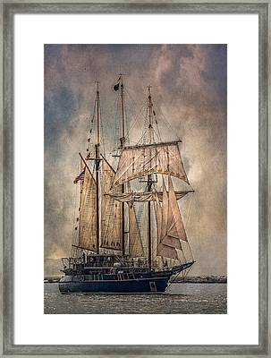 The Tall Ship Peacemaker Framed Print by Dale Kincaid
