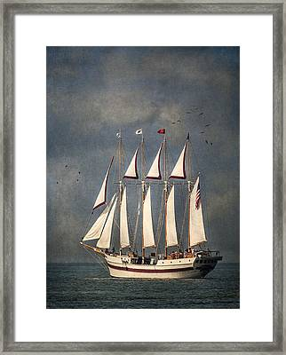 The Tall Ship Windy Framed Print by Dale Kincaid