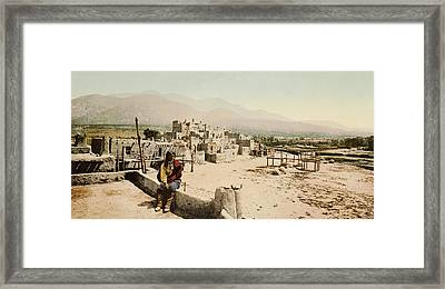 The Taos Pueblo Framed Print by William Henry Jackson