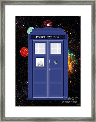 The Tardis Framed Print by Nishanth Gopinathan
