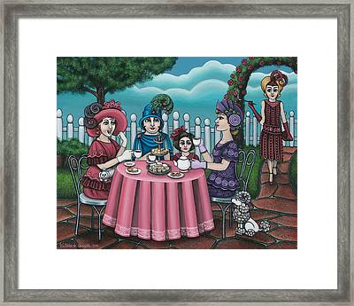 The Tea Party Framed Print by Victoria De Almeida