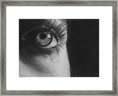 The Tear 2 Framed Print by Andrew Dyson
