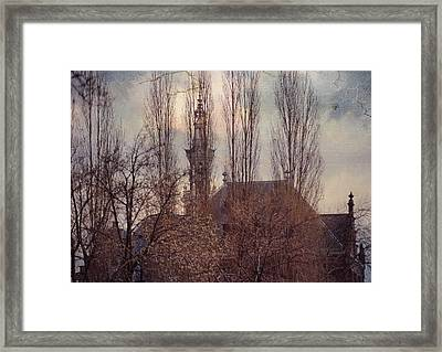 The Temple Bell Dies Away 2. Pink Spring In Amsterdam Framed Print by Jenny Rainbow