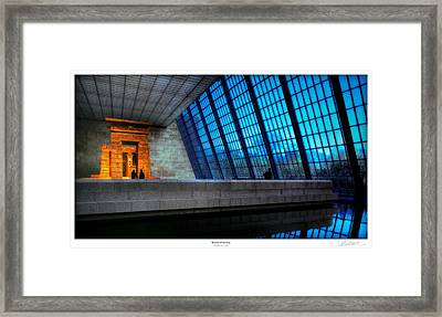 The Temple Of Dendur Framed Print by Lar Matre