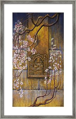 The Temple's Wall Framed Print by Vrindavan Das