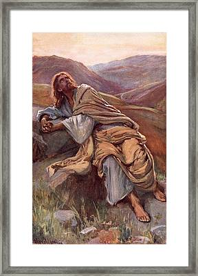 The Temptation Of Christ Framed Print by Harold Copping