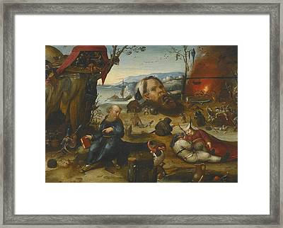 The Temptation Of Saint Anthony Framed Print by Celestial Images