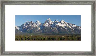 The Tetons Framed Print by Aaron Spong