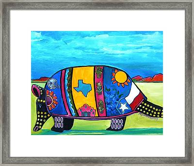 The Texas Armadillo Framed Print by Patti Schermerhorn