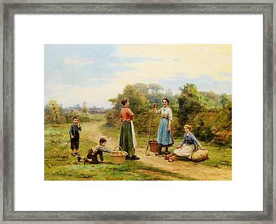 The Thief Of Apples Framed Print by Cesar Pattein