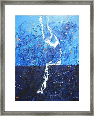 The Thinker Framed Print by Lawrence  Dugan