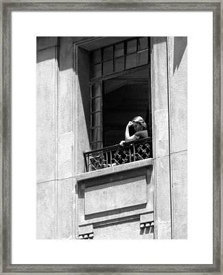 The Thinker - Sao Paulo Framed Print by Julie Niemela