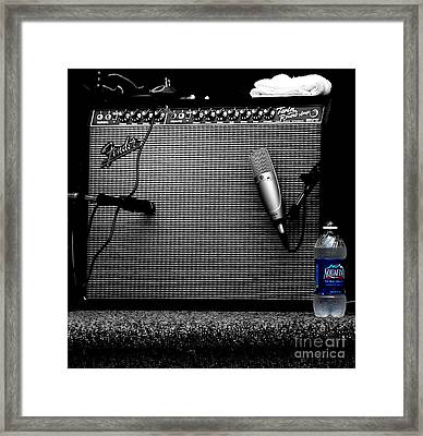 The Thirst Of Sound Framed Print by Steven  Digman