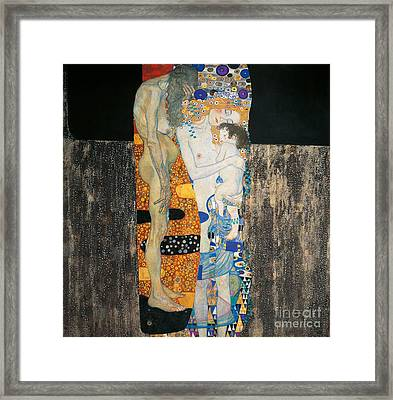 The Three Ages Of Woman Framed Print by Gustav Klimt