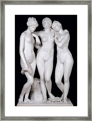 The Three Graces Framed Print by James Pradier