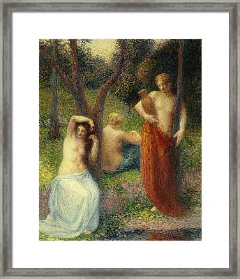 The Three Graces Framed Print by Hippolyte Petitjean