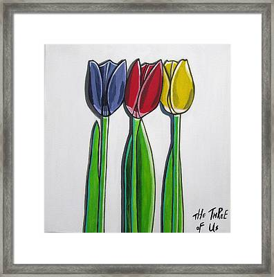The Three Of Us Framed Print by Sandra Marie Adams