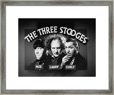 The Three Stooges Opening Credits Framed Print by Official Three Stooges