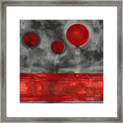 The Three Trees - A01 Framed Print by Variance Collections