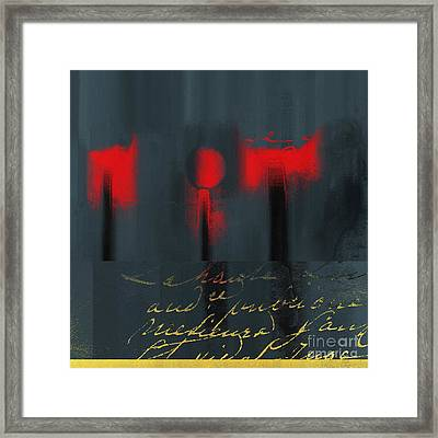 The Three Trees - J22206237a Framed Print by Variance Collections