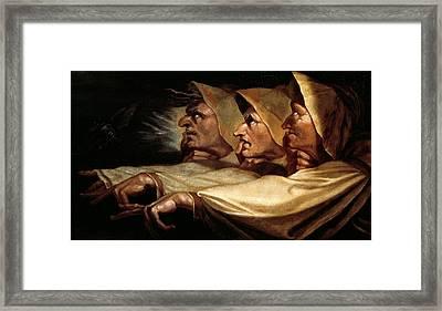 The Three Witches Framed Print by Johann Heinrich Fussli