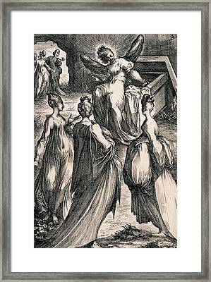 The Three Women At The Tomb Framed Print by Jacques Bellange