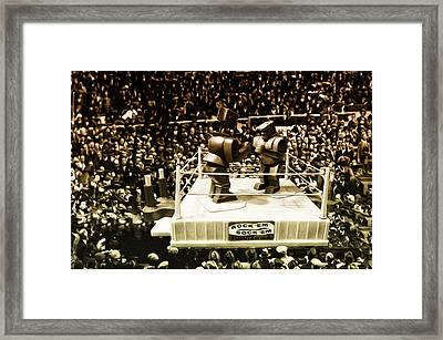 The Thrilla In Toyvilla Framed Print by Bill Cannon