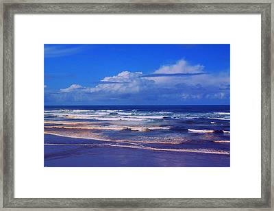 The Tide And Clouds Framed Print by Jeff Swan