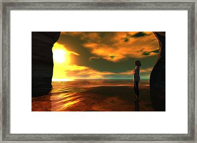 The Tide Framed Print by Whiskey Monday