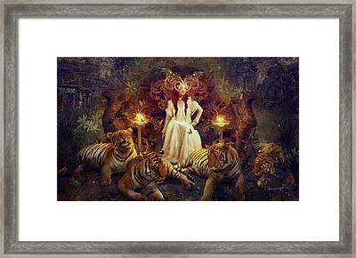 The Tiger Temple Framed Print by Cassiopeia Art