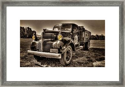 The Tillamook Cheese Truck Framed Print by Thom Zehrfeld