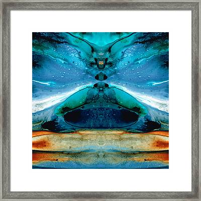 The Time Traveler - Surreal Fantasy Art By Sharon Cummings Framed Print by Sharon Cummings