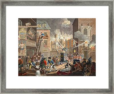The Times, Plate I, Illustration Framed Print by William Hogarth
