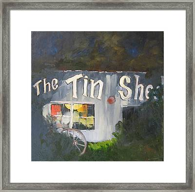 The Tin Shed Framed Print by Susan Richardson