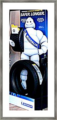 The Tire Man Framed Print by Pamela Hyde Wilson