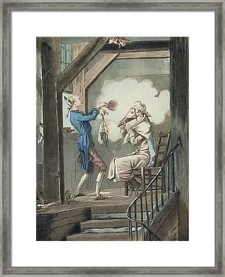 The Toilet Of An Attorneys Clerk Framed Print by Antoine Charles Horace Vernet