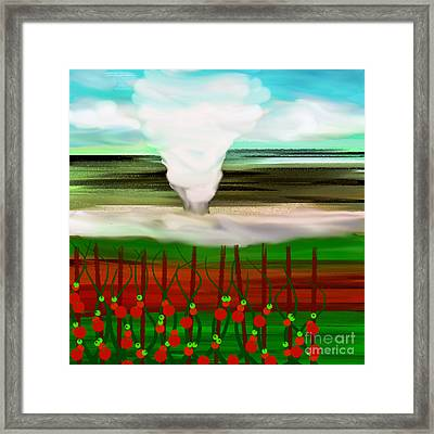 The Tomatoes And The Tornado Framed Print by Andee Design