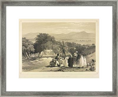 The Tomb Of The Emperor Baber Framed Print by British Library
