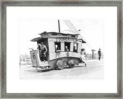 The Toonerville Trolley Framed Print by Underwood Archives