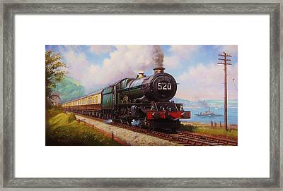The Torbay Express. Framed Print by Mike  Jeffries