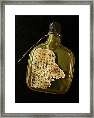 The Torn Message Framed Print by Steve Taylor