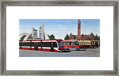 The Toronto Streetcar 100 Years Framed Print by Kenneth M  Kirsch
