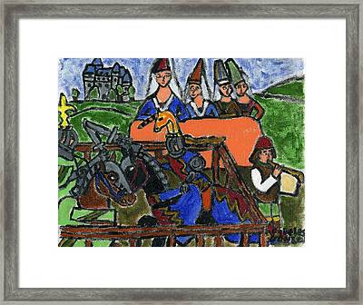 The Tournament Ladies Framed Print by Cibeles Gonzalez