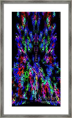 The Tower In Abstract Art Framed Print by Mario Perez