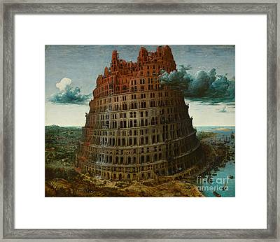 The Tower Of Babel Framed Print by Celestial Images