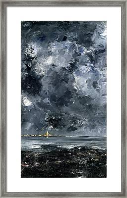 The Town Framed Print by August Johan Strindberg